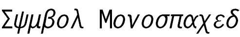 SymbolMonospacedBT-Regular