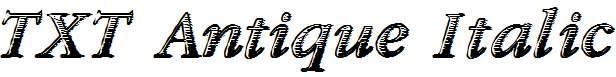 TXT-Antique-Italic