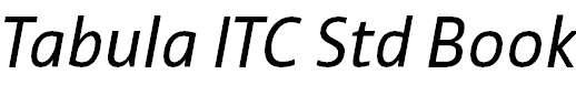 TabulaITCStd-BookItalic