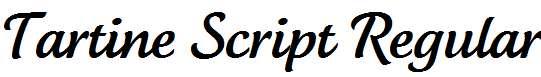 Tartine-Script-Regular
