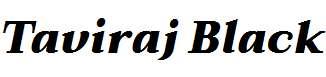 Taviraj-Black-Italic