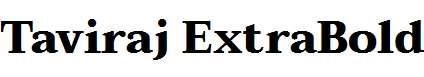Taviraj-ExtraBold