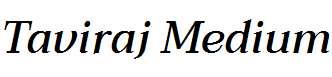 Taviraj-Medium-Italic