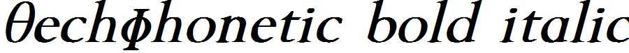 TechPhonetic-Bold-Italic