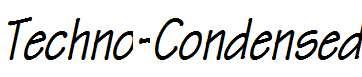Techno-Condensed-Bold-Italic