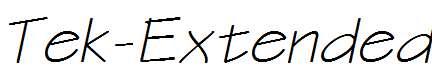 Tek-Extended-Bold-Italic