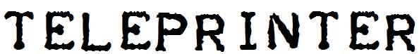 Teleprinter-Bold-Italic