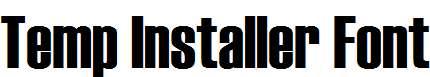 Temp-Installer-Font