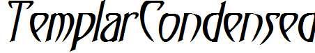 TemplarCondensed-Italic