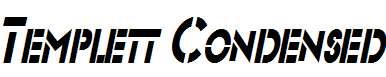 Templett-Condensed-Italic