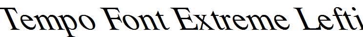 Tempo-Font-Extreme-Lefti