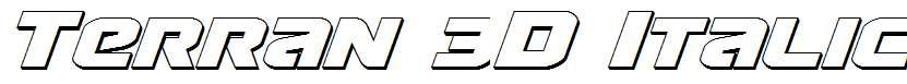 Terran-3D-Italic