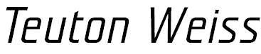 TeutonWeiss-BoldItalic