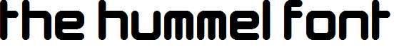 The-Hummel-Font-Regular