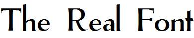 The-Real-Font