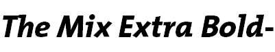 TheMixExtraBold-Italic