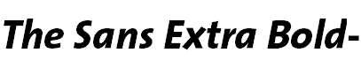 TheSansExtraBold-Italic