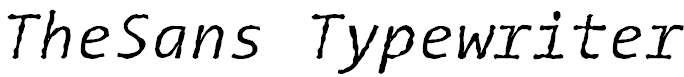 TheSansTypewriter-Italic