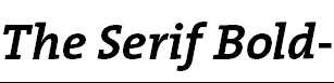 TheSerifBold-Italic