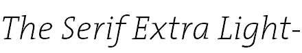 TheSerifExtraLight-Italic
