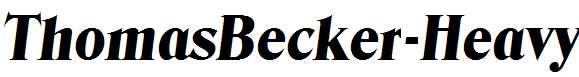 ThomasBecker-Heavy-Italic