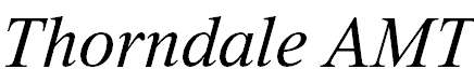 Thorndale AMT Italic