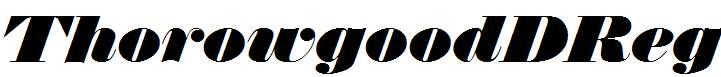 ThorowgoodDReg-Italic