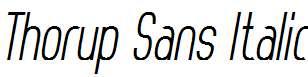 Thorup-Sans-Italic