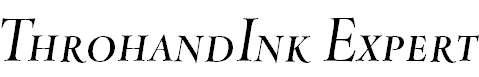 ThrohandInk-ItalicExpert