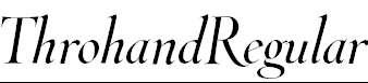 ThrohandRegular-Italic