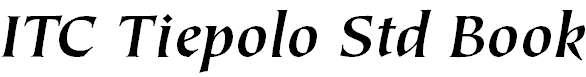 TiepoloStd-BoldItalic