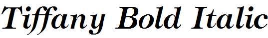 Tiffany-Bold-Italic