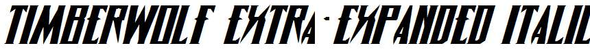 Timberwolf-Extra-expanded-Italic