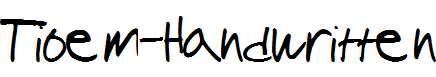Tioem-Handwritten