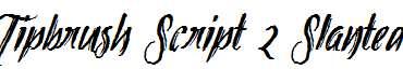 Tipbrush-Script-2-Slanted