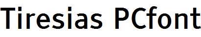 Tiresias-PCfont
