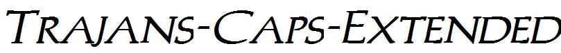Trajans-Caps-Extended-Bold-Italic