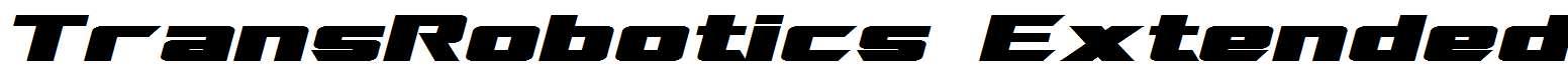 TransRobotics-Extended-Bold-Italic