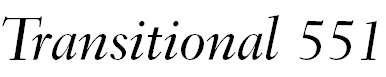 Transitional551BT-MediumItalicB