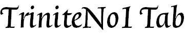 TriniteNo1-MediumItalicTab