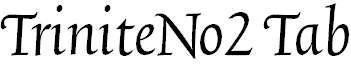TriniteNo2-ItalicTab