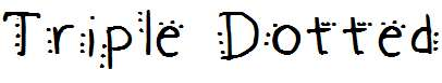 Triple-Dotted-Medium