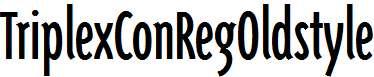 TriplexConRegOldstyle-Regular
