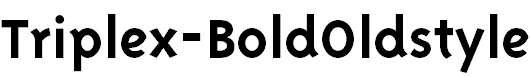 TriplexSans-BoldOsF