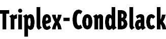 TriplexSans-CondBlack
