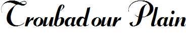 Troubadour-Plain