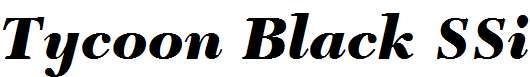 Tycoon-Black-SSi-Black-Italic