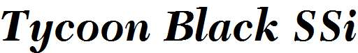 Tycoon-Black-SSi-Bold-Italic