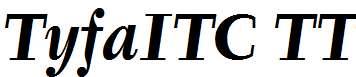 TyfaITC-TT-BoldItalic