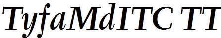 TyfaMdITC-TT-MediumItalic